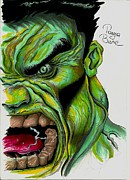 Hulk Drawings - Hulk by Tanya Bure