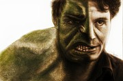 Avengers Prints - Hulk Transition Print by Sheena Pike