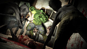 Hulk Posters - Hulk vs. The Zombie Apocalypse Poster by Brandon Freer
