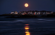 Nantasket Beach Prints - Hull Moonshine Print by Joanne Brown