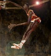 Basketball Paintings - Human Highlight Film by Jumaane Sorrells-Adewale