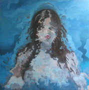Princes Painting Posters - Human Transformation in aqua space Poster by Roncea Eliza