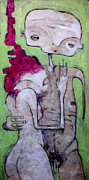 Outsider Art Mixed Media Framed Prints - Humanitas No. 10  Framed Print by Mark M  Mellon