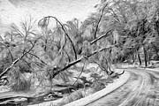 Steve Harrington - Humber River Road - Paint BW