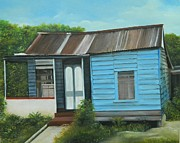 Jamaican Art Paintings - Humble Living by Kenneth Harris