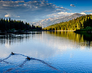 Terry Garvin Prints - Hume Lake Evening Print by Terry Garvin