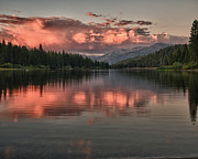 Terry Garvin Art - Hume Lake Sunset by Terry Garvin