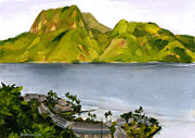 Samoan Paintings - Humid Day in Pago Pago by Douglas Simonson