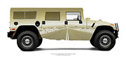 Hummer Framed Prints - Hummer H1 4-Door Wagon NTS Entrance Road Framed Print by Jan Faul