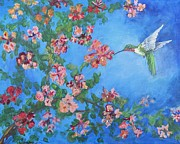 Carolyn Speer - Humming bird with flowers