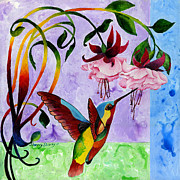 Hummingbird Paintings - Hummingbird 1 by Sherry Shipley