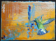 Periwinkle Originals - Hummingbird Abstract by Tracy L Teeter