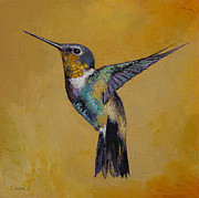 Impasto Oil Paintings - Hummingbird by Michael Creese