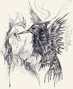 Angels Drawings - Hummingfish by Michael Mynatt