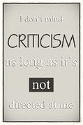 Humorous Poster - Criticism - Neutral Print by Natalie Kinnear