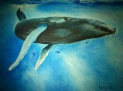 Lucy D Metal Prints - Humpback Whale Metal Print by Lucy D