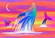 Nick Gustafson - Humpback Whales Sunset