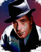 Motion Picture Star Prints - Humphrey Bogart Print by Allen Glass