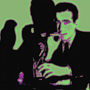 Bay Area Digital Art - Humphrey Bogart and The Maltese Falcon 20130323 Square by Wingsdomain Art and Photography