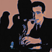 Falcon Digital Art - Humphrey Bogart and The Maltese Falcon 20130323m88 Square by Wingsdomain Art and Photography