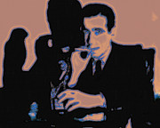 Detectives Metal Prints - Humphrey Bogart and The Maltese Falcon 20130323m88 Metal Print by Wingsdomain Art and Photography