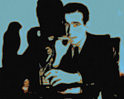 Detectives Metal Prints - Humphrey Bogart and The Maltese Falcon 20130323p88 Metal Print by Wingsdomain Art and Photography