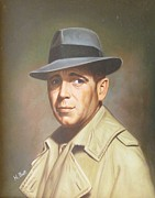Trench Paintings - Humphrey Bogart by H Bolt