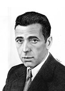Gangster Drawings - Humphrey Bogart by Loredana Buford