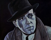 Movie Star Painting Originals - Humphrey Bogart by Shirl Theis