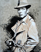 Humphrey Paintings - Humphrey Bogart by Victor Minca