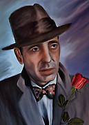 Valentines Day Digital Art Originals - Humphrey DeForest Bogart by Andrzej  Szczerski