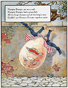 Mother Goose Framed Prints - Humpty Dumpty, 1915 Framed Print by Granger