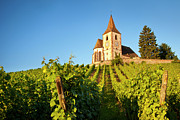 Haut-rhin Photo Prints - Hunawihr Church Print by Brian Jannsen
