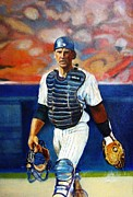 Mets Paintings - Hundley by John Kennedy Wilson