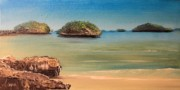 Philippine Sea Originals - Hundred Islands in Philippines by Remegio Onia