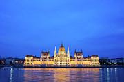 Hungarian Parliament Building At Dusk Print by Artur Bogacki