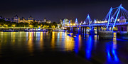 Brdige Prints - Hungerford Bridge Skyline at Night Print by A Souppes
