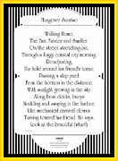 Friends Drawings Framed Prints - Hungover Sunrise Poem Framed Print by Charles Drummond