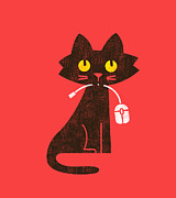 Hungry Hungry Cat Print by Budi Satria Kwan