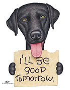Labrador Retriever Drawings - Hunter by Danny Gordon