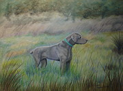 Hunting Pastels Prints - Hunter Print by Laurianna Taylor