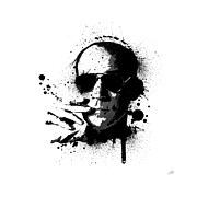 Hunter Framed Prints - Hunter S. Thompson Framed Print by Laurence Adamson
