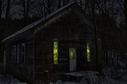 Whitetail Digital Art - Hunters Cabin by David Simons