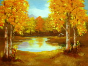 Serenity Landscapes Paintings - Hunters  Haven  by Shasta Eone