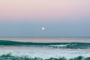 Blue Green Wave Photos - Hunters Moonrise by Michelle Wiarda