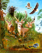 American Eagle Paintings - Hunters Paradise by Bill Holkham