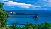 Best Sailing Photos Framed Prints - Hunterston Deep Water Terminal Ayrshire Framed Print by Tylie Duff