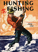 Fishing   Posters - Hunting and Fishing Poster by Gary Grayson