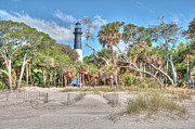 Palmettos Prints - Hunting Island - Beach View Print by Scott Hansen
