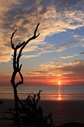 Hunting Island Sunrise Print by Michael Weeks